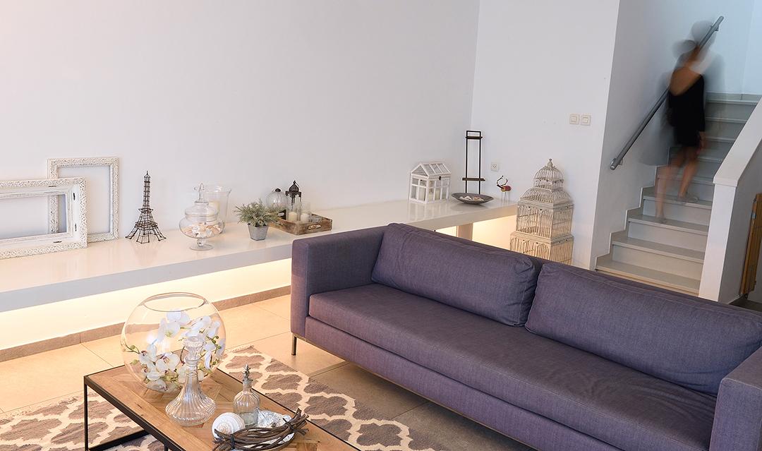 עיצוב בית דופלקס עם גינה
