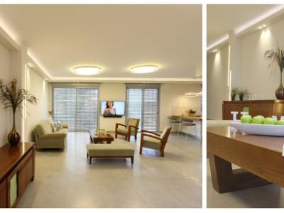 שינויים בתכנון ועיצוב פנים בדירה בהרצליה