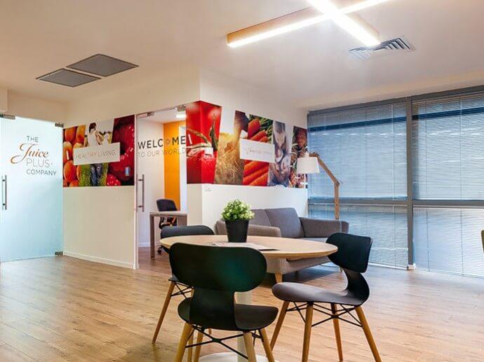 Juice Plus ישראל – משרדים וכיתת הדרכה | עיצוב ותכנון פנים