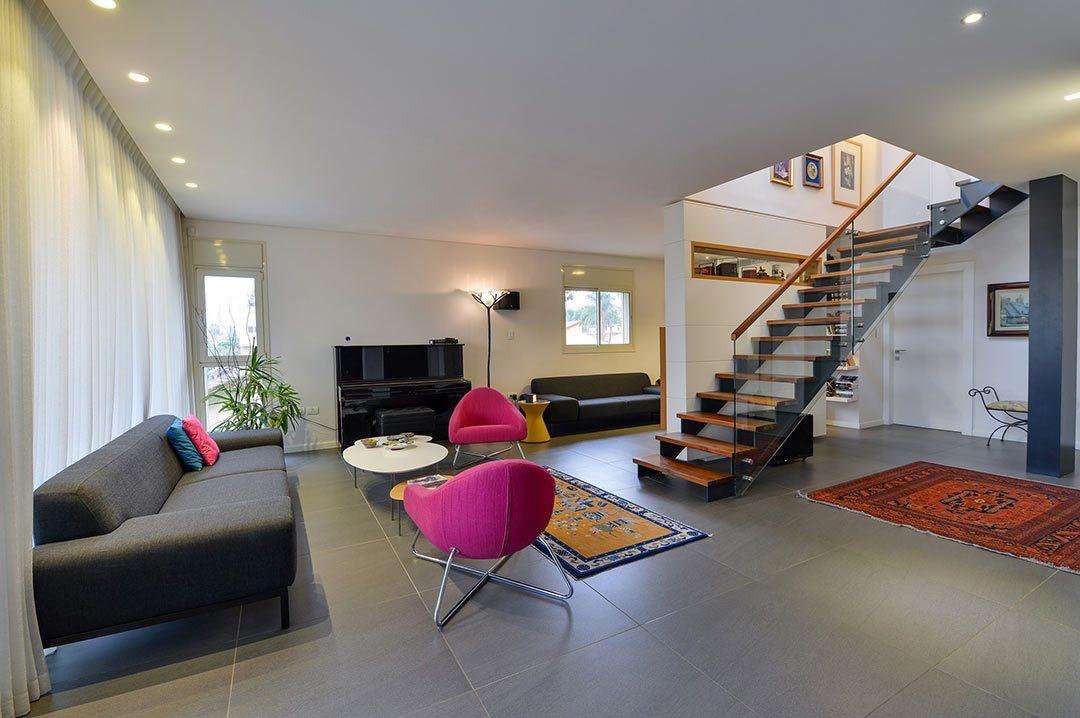תכנון ועיצוב דירת קבלן, פנטהאוס ברעננה